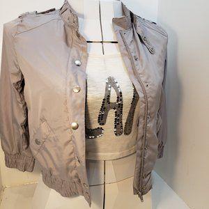 2/$20 Spring coat Like new grey bomber jacket
